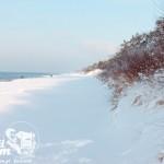 Zima nad morzem - Plaża pomiędzy Pobierowem a Pustkowem