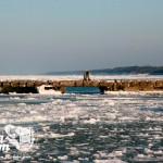 Zima nad morzem - molo w Niechorzu