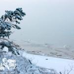Zima nad morzem - Biała plaża