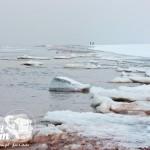 Zima nad morzem - Kry na Bałtyku