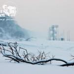 Zima nad morzem - Plaża w Pobierowie