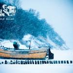 Zima nad morzem - Przystań rybacka w Rewalu