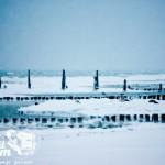 Zima nad morzem - Falochrony w Rewalu