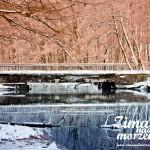 Zima nad morzem - Most kolejowy w Pogorzelicy